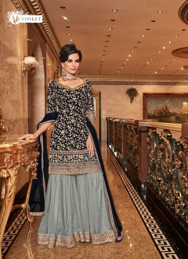 Swagat Designer Party wear Embroidered Sharara Suit Collection
