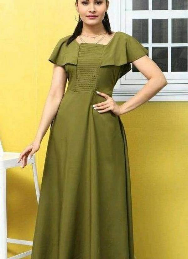 Velentino Latest Heavy Crepe Embellished Work Party Wear Long Kurti Stylish Look Collections