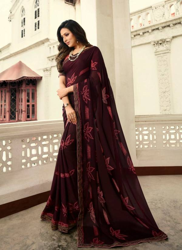 Vinay Rangoli Silk Designer Printed sarees With Banglory Silk Blouse Collections