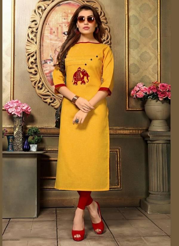 Khadi Cotton Straight Cut Long Kurtis Collection