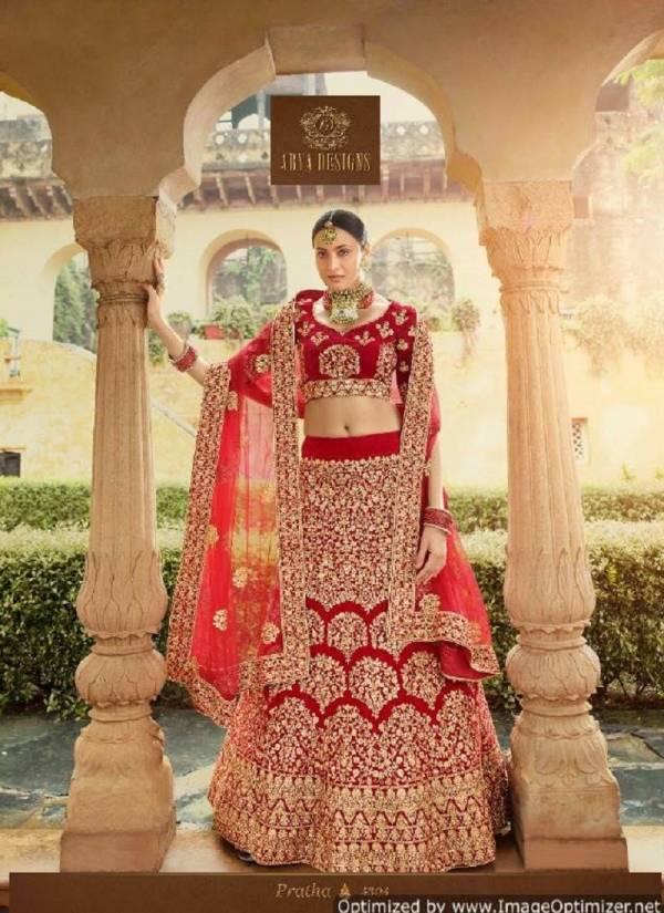 Arya Pratha Latest Designer Heavy Zari Thread Work Wedding Bridal Lehenga Colection