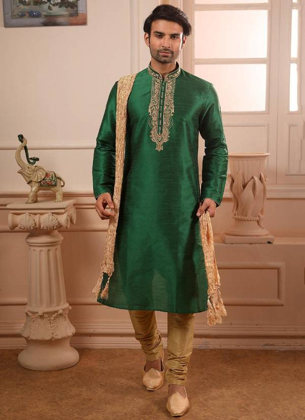 Designer Party wear Traditional New Banarasi Silk Embroidery and Handwork Kurta Pajama in Wholesale Collection