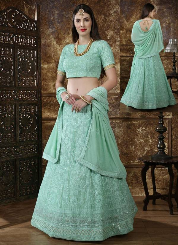 Khushbu Bridesmaild Vol  Designer Wedding and Partywear Embroidery Georgette and Silk Lehenga Choli