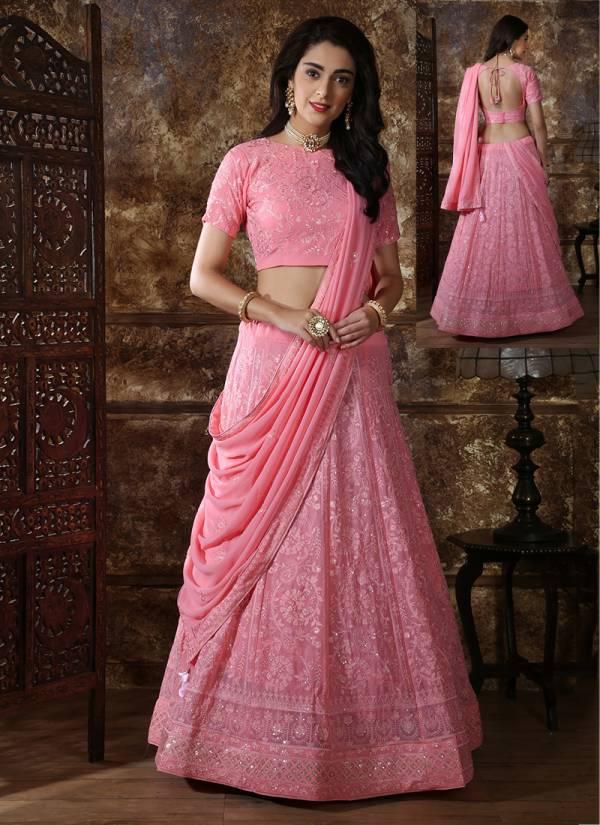 Khushbu Bridesmaild Vol  Designer Wedding and Partywear Embroidery Georgette and Silk Lehenga Choli