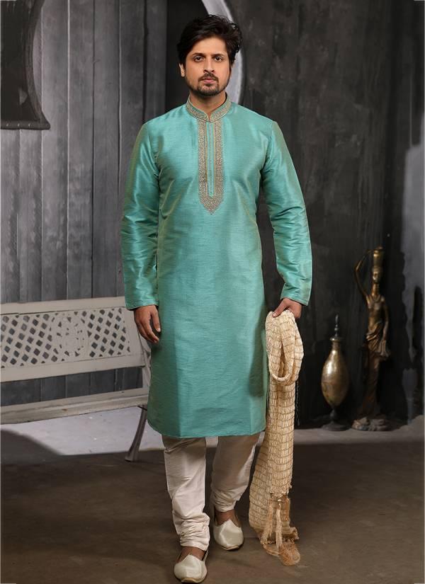 Embroidery Work New Traditional Designer Banarasi Silk Kurta Pajamas Collection