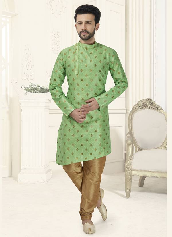Designer  Wedding and Party Wear Banarasi Silk and Cotton Kurta Pajama in Wholesale Collection