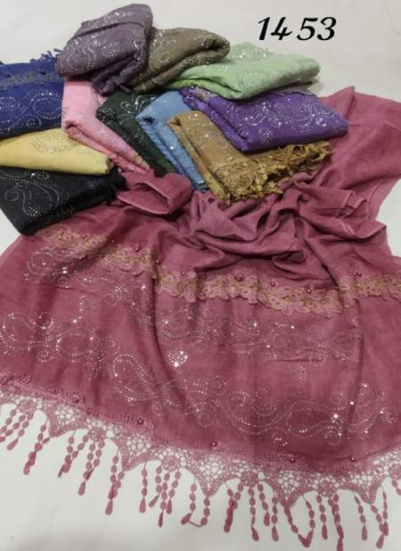 1453 Hijab Festive Wear Designer Hijab Collection
