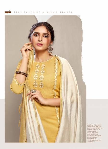 7 Pearls Daisy Cotton With Embroidery Work Ethnic Wear Kurti Pant With Dupatta Ready Made Collection