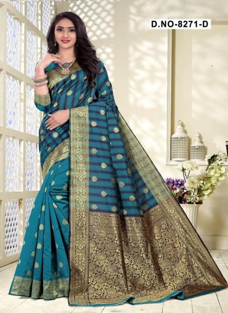 Melody 8271 Designer Handloom Cotton Silk Party Wear Saree Collection