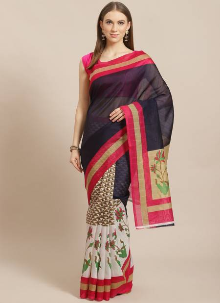 Office Wear and Party Wear Bhagalpuri Designer Saree Collections