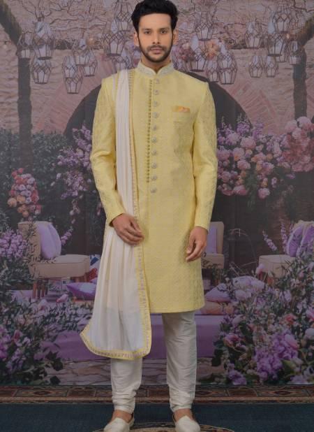 Luckanvi Work Wedding Wear Designer Fancy Heavy Georgette Embroidered Work Sherwanis Collection