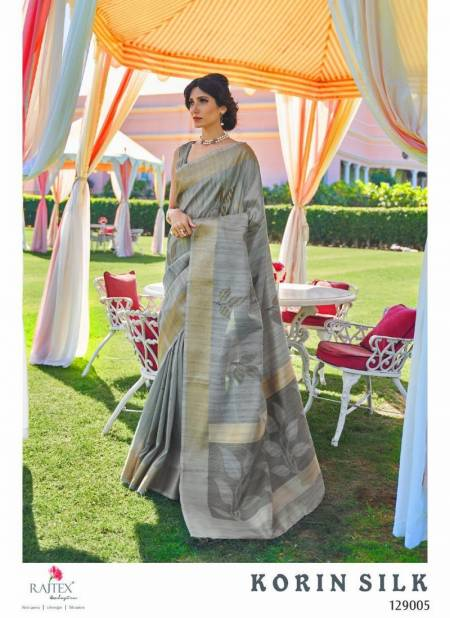 Rajtex Korin Soft Handoom Weaving Silk Designer Wedding and Partywear Sarees Collections