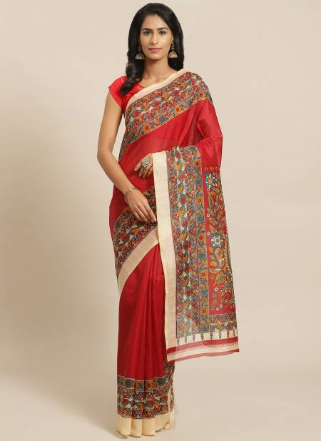 Simple Daily Wear Rich Look Bhgalpuri Designer Saree Collections