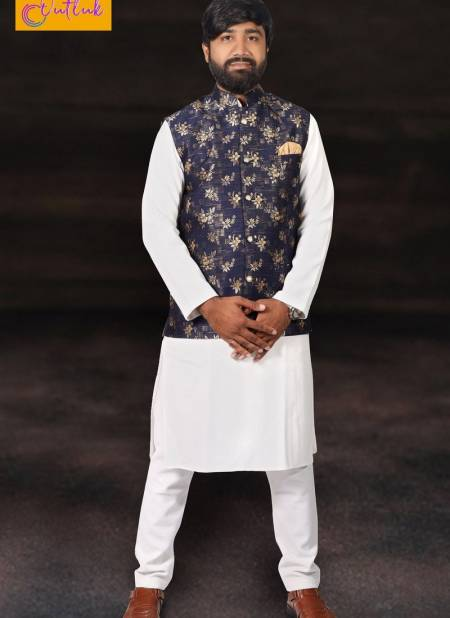 New Desgner Outlook Vol 12 Cotton Party Wear Kurta Pajama With Jute and Jacquard Printed Modi Jacket Collection
