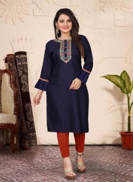 Aagya Jasmine 3 Fancy Ethnic Wear Rayon Embroidery Designer Kurti Collection