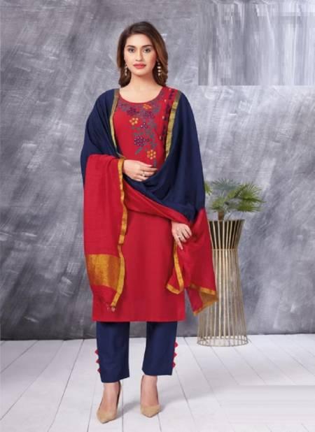 Aarvi Fashion Ahiliya 1 Ethnic Wear Cotton Kurti With Pant And Dupatta Collection