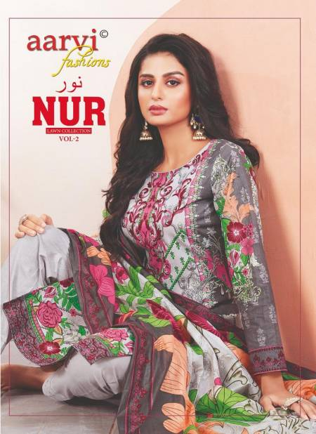 Aarvi Fashion Nur 2 Karachi Cotton Dress Material Collection