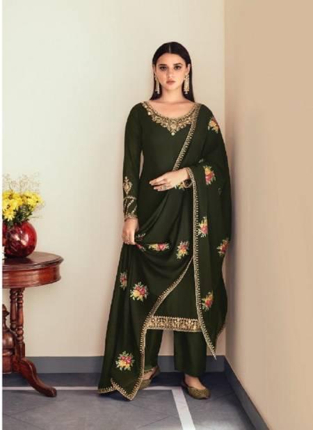 Aashirwad Sunheri 8458 Designer Festive Wear Real Georgette Embroidery Salwar Kameez Collection