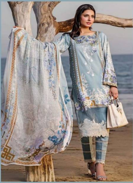 Agha Noor 5 Laxury Lawn Casual Daily Wear Karachi Cotton Dress Material Collection