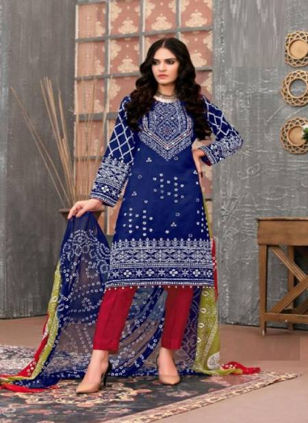 Al Karam Bandhani Special Casual Karachi Cotton Printed Designer Dress Material