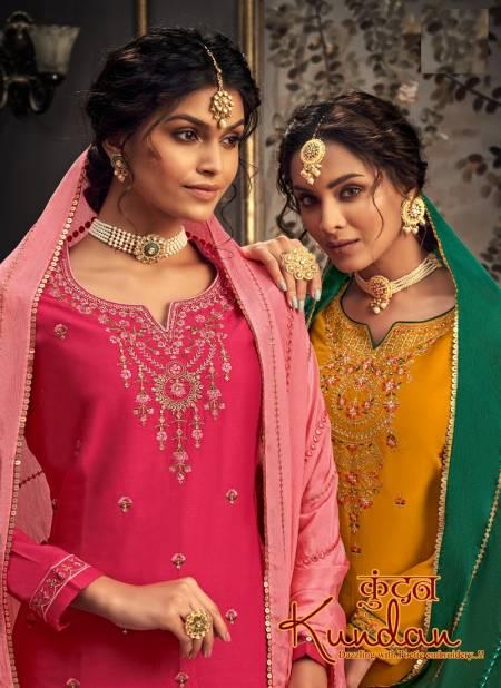 Alok Kundan Fancy Wear Designer Festive Wear Jam Cotton Embroidery with Sleeve Work Dress Material Collection
