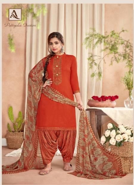Alok Latest Fancy Designer Patiala Latest Casual Wear Rayon Punjabi Style Dress Material Collection