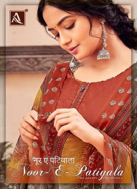 Alok Noor E Patiyala 11 Designer Pure Jam Jacquard with Stitched Tie and Fancy Bottom And Dupatta Dress Material Collection