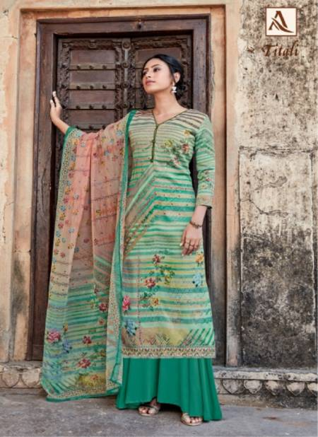 Alok Titali Ethinc Wear Designer Printed Jam Satin Salwar Kameez Collection
