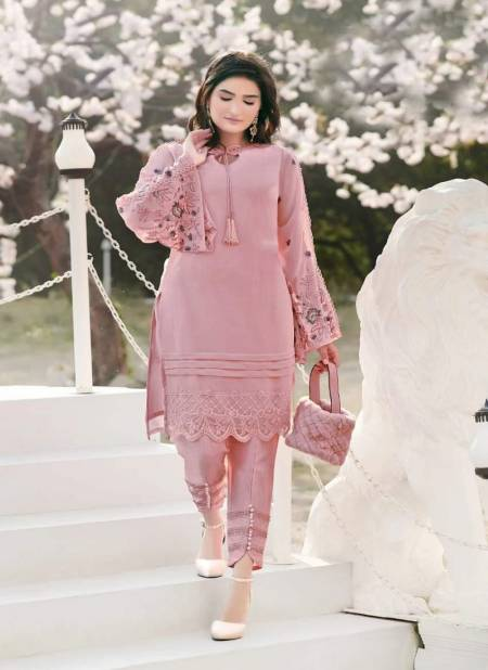 Am 59 Latest Georgette Fancy Designer Casual Wear Heavy Kurti With Bottom Collection