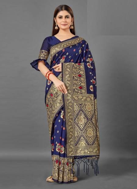 Apple Dharmavaram 194 Silk Festive Wear Woven Silk Designer Latest Saree Collection