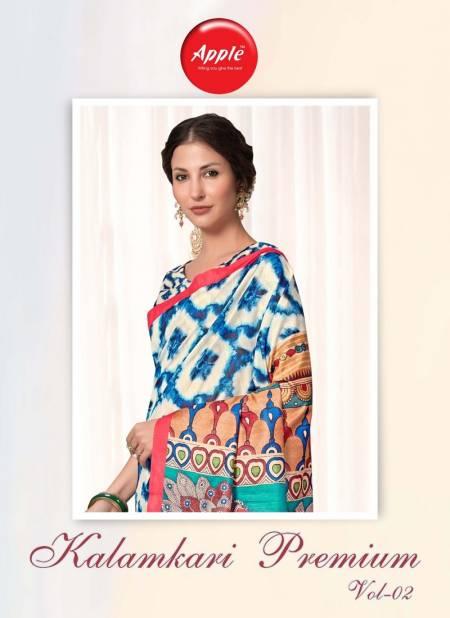 Apple Kalamkari Premium 2 Latest Fancy Designer Regular Casual Wear Printed Saree Collection