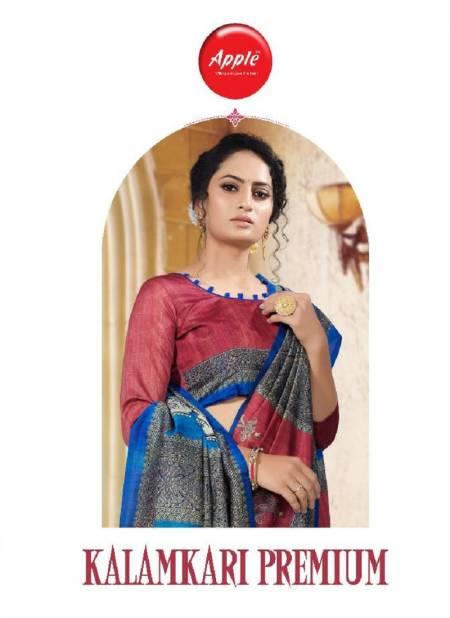 APPLE KALAMKARI PREMIUM KP-01 Fancy Festive Wear Digital Printed Bhagalpuri Silk Saree Collection