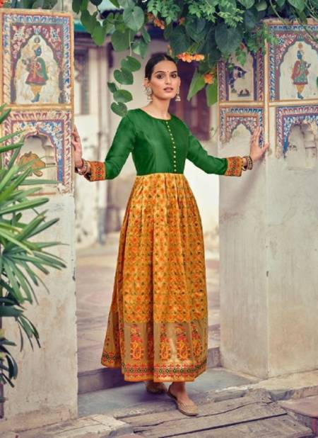 Avc Sohana Festive Wear Designer Jacquard Printed Gown Collection
