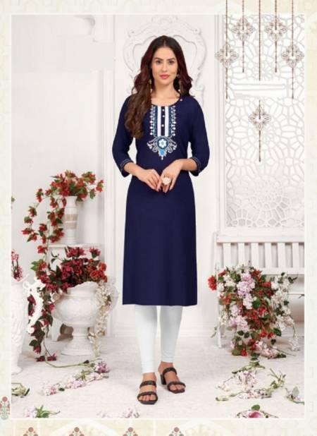 B2 Princess 1 Fancy Designer Ethnic Wear Rayon Embroidery Kurti Collection