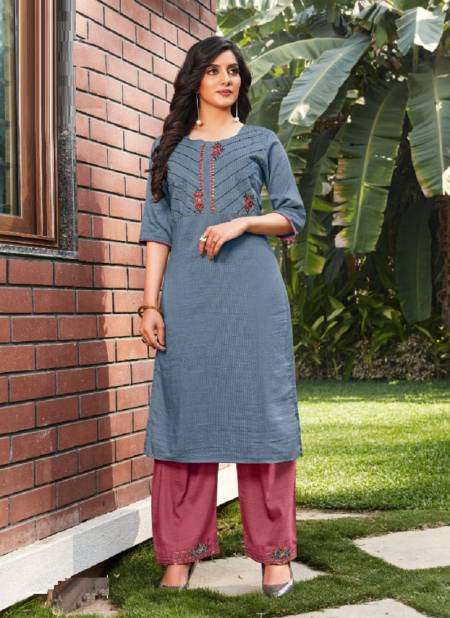Baanvi Yuvika 1 Silk Linning With Work Ethnic Wear Kurtis With Bottom Collection