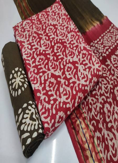 Batik 4 Bandhani Regular Wear Printed Cotton Designer Dress Material Collection