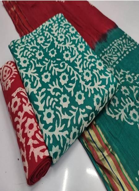 Batik 6 Bandhani Regular Wear Cotton Printed Latest Dress Material Collection