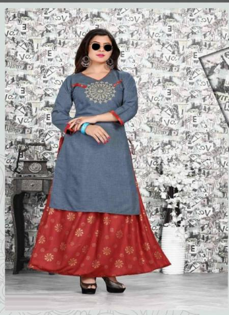 Beauty Queen Bestie Rayon Ethnic Wear Rayon Kurti With Bottom Collection