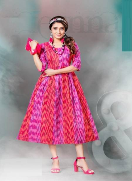 Beauty Queen Niharika Handloom Cotton Ethnic Wear Printed Kurti Collection