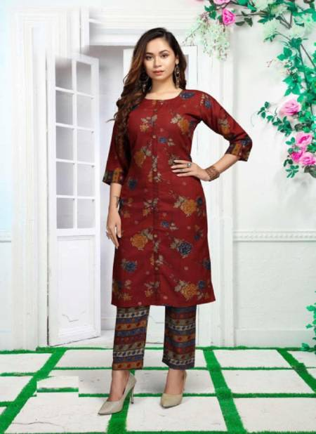 Beauty Queen Palak Casual Wear Printed Kurti With Bottom Collection