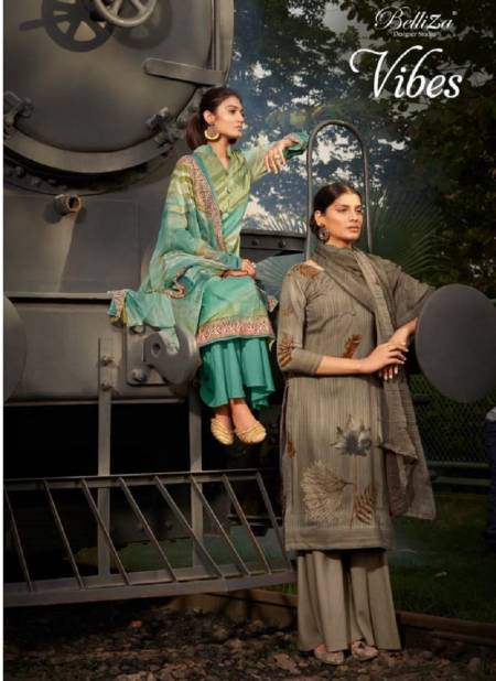 Belliza Vibes Ethnic Wear Designer Rayon Digital Printed Dress Material Collection