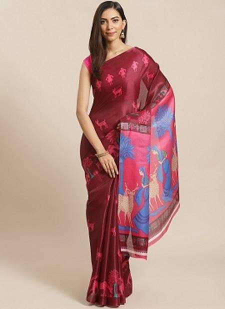 Bhagalpuri 2 Festive Printes Daily Wear Latest Design Silk Sarees Collection
