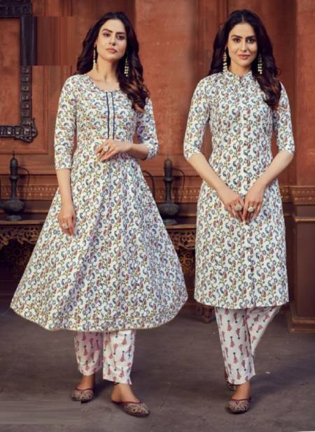 Blue Hills Fusion 1 Designer Stylish Long  Kurti And Anarkali With Bottom Collection