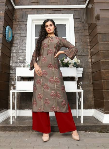Blue Hills Glory Fancy Ethnic Wear Viscose Kurti With Bottom Collection
