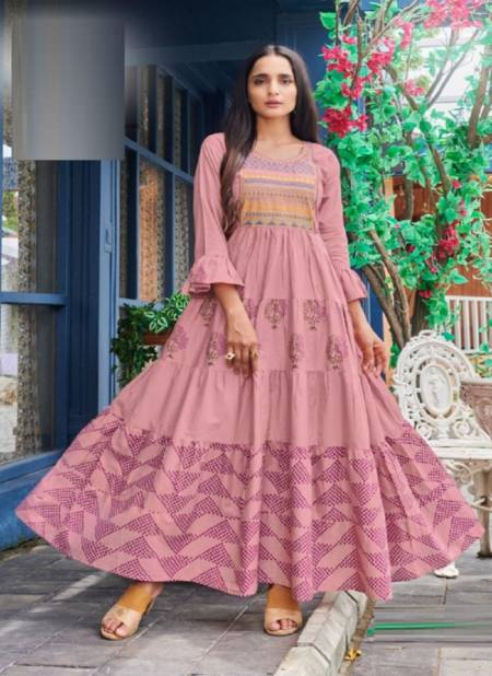 Blue Hills Livik 5 Nx Heavy Cotton Ethnic Wear Cotton Anarkali Long Kurti Collection