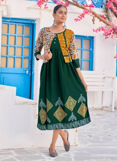Blue Hills Trend 15 Fancy Wear Designer Printed Kurti Anarkali Collection