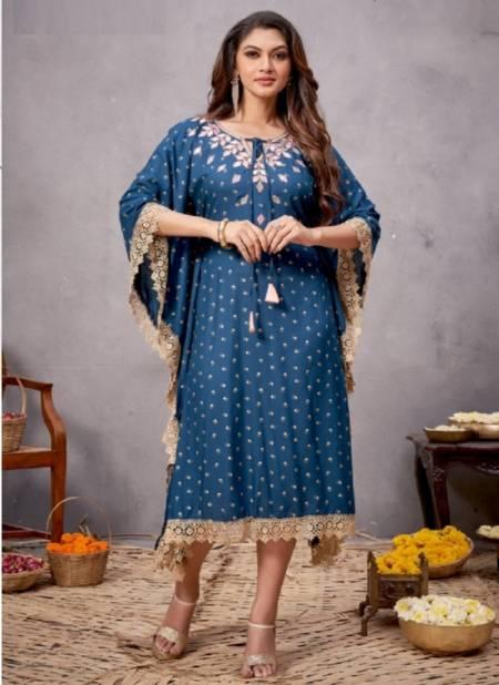 Bonie Hello Kaftan Fancy Ethnic Wear Rayon Printed Collection