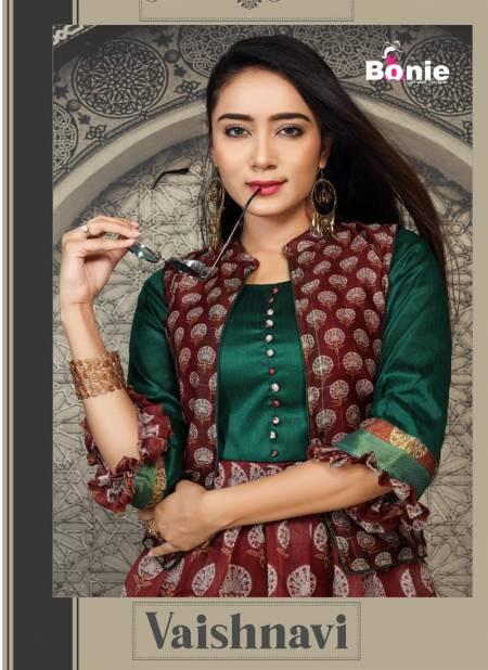 Bonie Vaishnavi Exclusive Designers Silk Ethnic Wear Kurtis With Jacket Collection