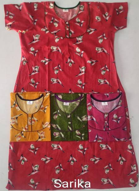 Cotton Nighty 123 Comfortable Night Wear Pure Cotton Printed Nighty Collection
