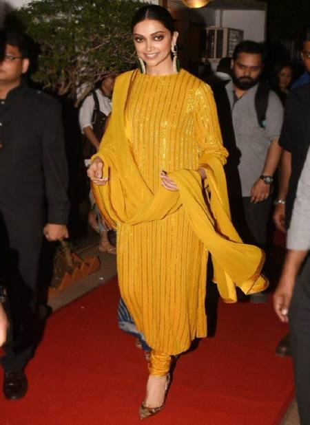 Deepika Padukon Suit 1 Latest Designer Collection Of Fancy Party Wear Festive Wear Dress Material
